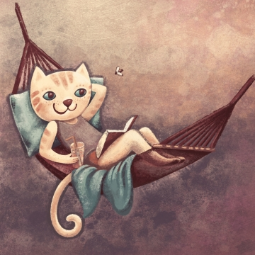 Kočička v houpací síti