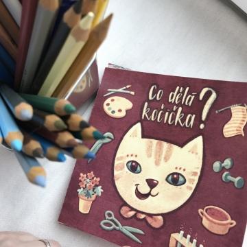 Co dělá kočička? – omalovánky